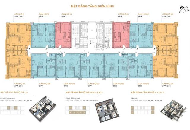 mat bang Altara Residences - Mặt bằng điển hình dự án căn hộ Altara Residences