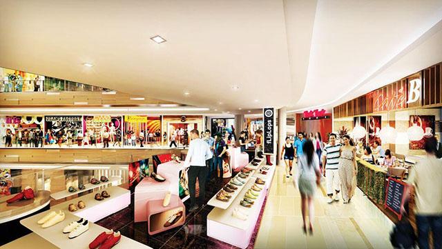 tien ich du an can ho - Khu trung tâm thương mại tại dự án Gold Coast