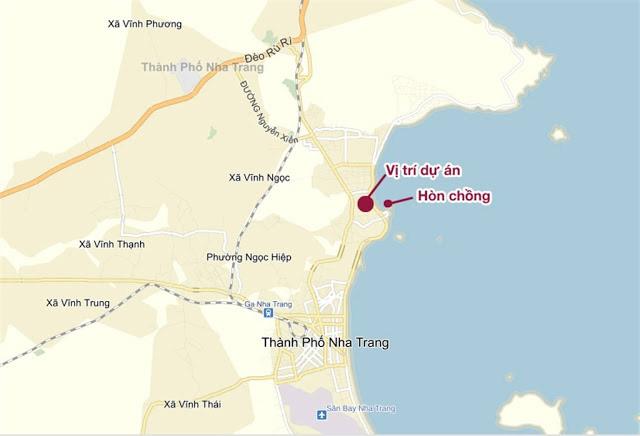 vi tri du an can ho - Vị trí tọa lạc dự án căn hộ chung cư Mường Thanh Viễn Triều trên bản đồ