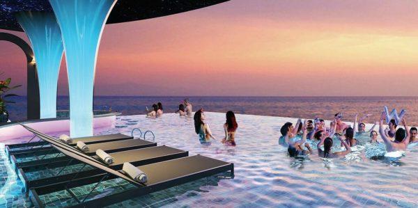 Tien ich du an - Hồ tràn bờ view Biển dự án Takashi