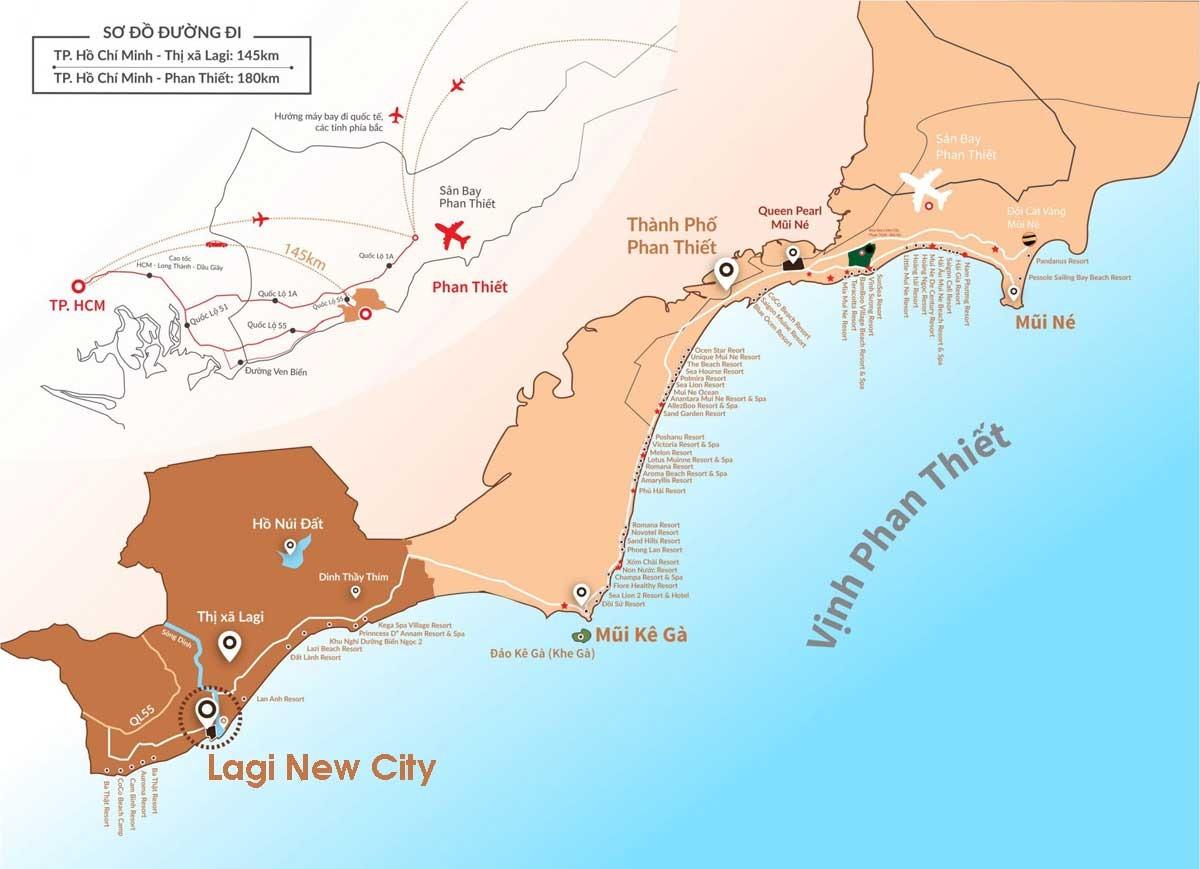 Vị trí liên kết vùng Dự án Lagi New City