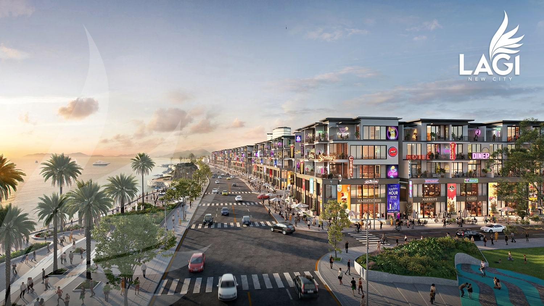 Phối cảnh dự án Lagi New City buổi chiều