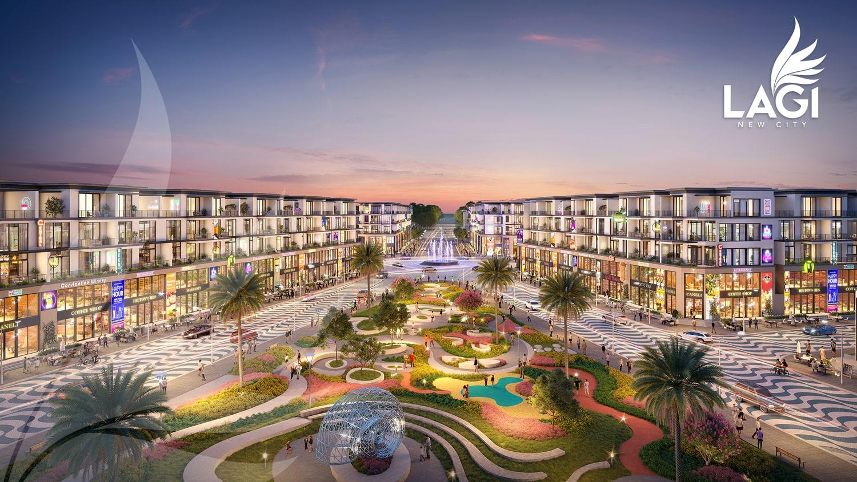 Mẫu thiết kế Lagi New City gần công viên cây xanh